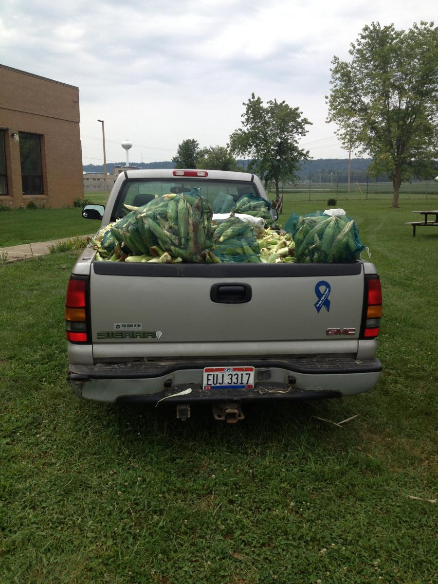 Truck loaded with food for Ross County food bank