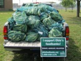 Ross County donated a truck load of sweet corn to feed the hungry.
